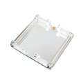 "Square Mirror Matza Tray w/ Crushed Glass 9"" (P-X1933)"