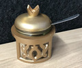 Gold Pomegranate Honey Dish (HD-X3588Z)