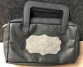 Faux Leather Esrog Pouch w/ Handle-- Black (ES-44432)