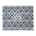 Emanuel Full Embroidered Challah Cover Thick Weave--Blue (EM-CMC21)
