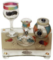 Lily Art Glass Havdallah Set (HV-500615-54)