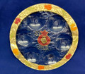 "Lily Art Glass Rosh Hashana ""Simanim"" Plate (HD-507568/7)"