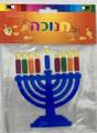 Sticky Menorah Window Cling Decoration (10-6713