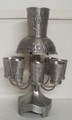 Pewter  Wine Fountain 8 cups Jerusalem SHB-5050-P