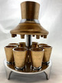 Metal 8 Cup Wine Fountain Kotel Design-Gold(SHB-194491)