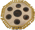 Round Lether Matzah Cover   P-MCLR