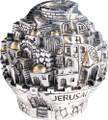 Electroform Jerusalem Tzedaka Ball (TZ-3870)