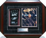Georges St-Pierre Glove With 8x10 Signed Glove With 8x10 Framed