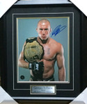 Georges St-Pierre 'Rush' Signed 11x14 Framed GSP