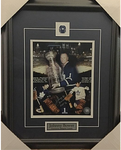 Johnny Bower Collage Signed Maple Leafs 8x10 Framed