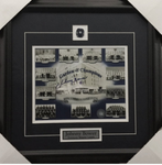 Johnny Bower Signed Maple Leafs 8x10 Framed