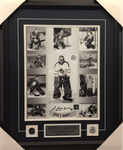 Johnny Bower Signed Maple Leafs Collage 11x14 Framed