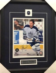 Darcy Tucker Signed Maple Leafs 8x10 Framed