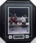 Johnny Bower & Jean Beliveau Signed 11x14 Framed