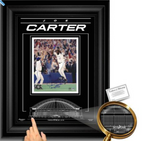 Joe Carter Signed 8x10 Ltd. Edition Blue Jays Etched Glass