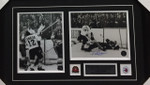 Paul Henderson 1972 Goal Team Canada Signed Framed Dual 8x10 a
