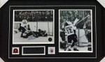 Paul Henderson 1972 Goal Team Canada Signed Framed Dual 8x10