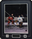 Jean Beliveau / Johnny Bower Signed Framed 16x20