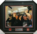 Jonathan Toews & Patrick Kane With Cup Signed Blackhawks Framed 16x20