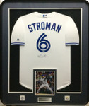 Marcus Stroman 'White' Signed Toronto Blue Jays Framed Jersey