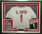 Ozzie Smith Signed Framed Jersey