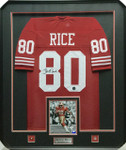 Jerry Rice 'Red' Signed Framed Jersey