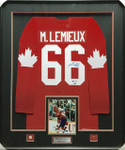 Mario Lemieux 1987 Canada Cup Limited Edition Signed Framed Jersey