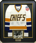 The Hanson Brothers Signed Chiefs Framed Jersey