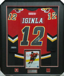 Jarome Iginla Red Flames Signed Framed Jersey