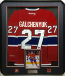 Alex Galchenyuk Montreal Canadiens Signed Framed Jersey