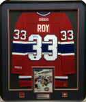 Patrick Roy Montreal Canadiens Red Signed Framed Jersey