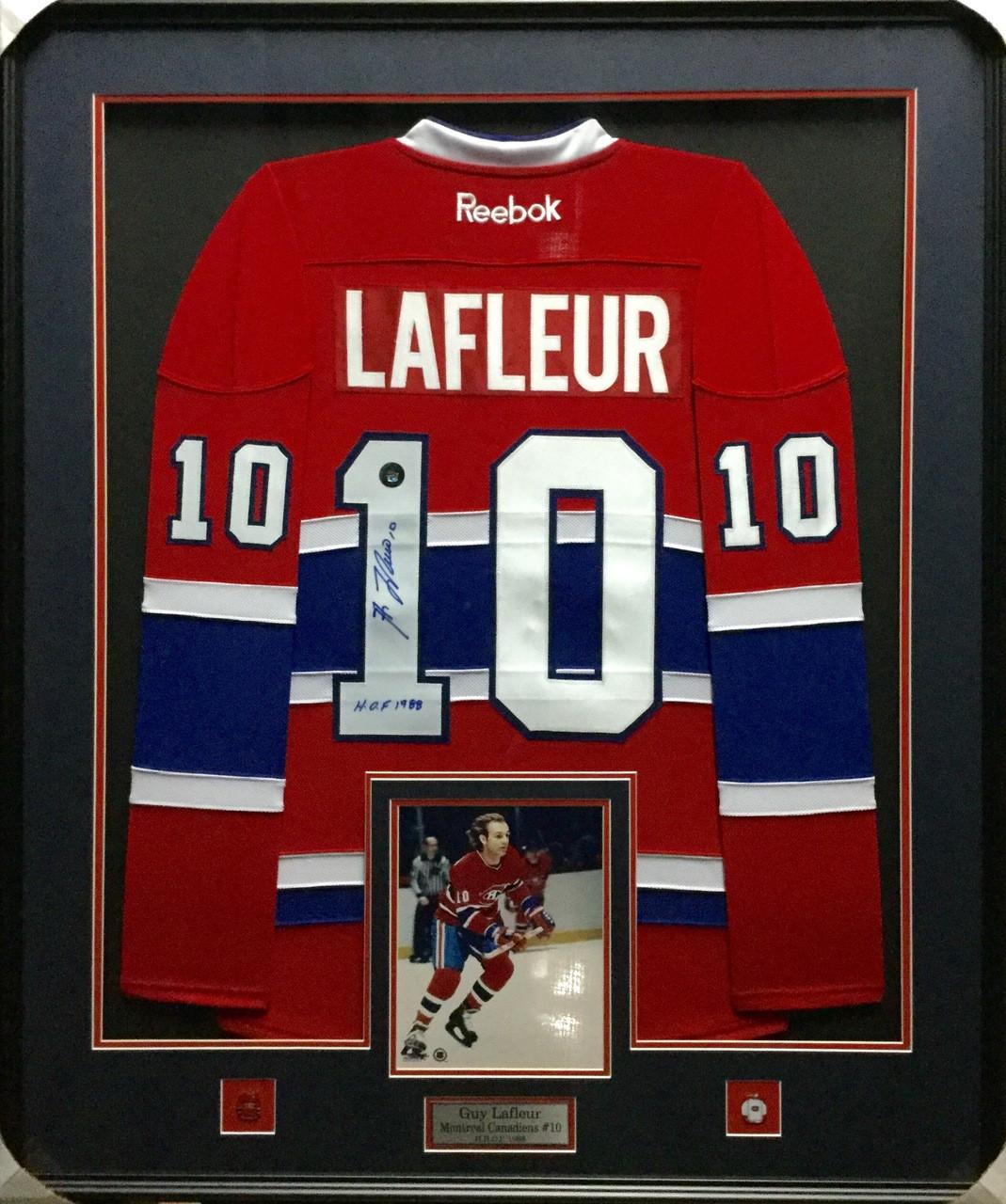 new arrivals 74333 22060 Guy Lafleur Montreal Canadiens Signed Framed Jersey
