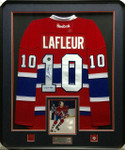 Guy Lafleur Montreal Canadiens Signed Framed Jersey