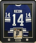 Dave Keon Signed Maple Leafs Framed Jersey