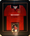 Eric Cantona Manchester United Signed Framed Jersey