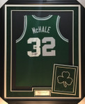 Kevin Mchale Boston Celtics With Logo Signed Framed Jersey