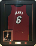 Lebron James Miami Heat Signed Framed UDA Jersey