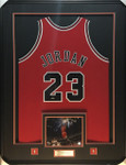 Michael Jordan 'Red' Signed Framed Jersey