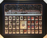 Montreal Canadiens 100 Year Beliveau Signed Framed 36x11 With Card Set