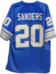 Barry Sanders Signed Authentic Throwback NFL Detroit Lions Jersey