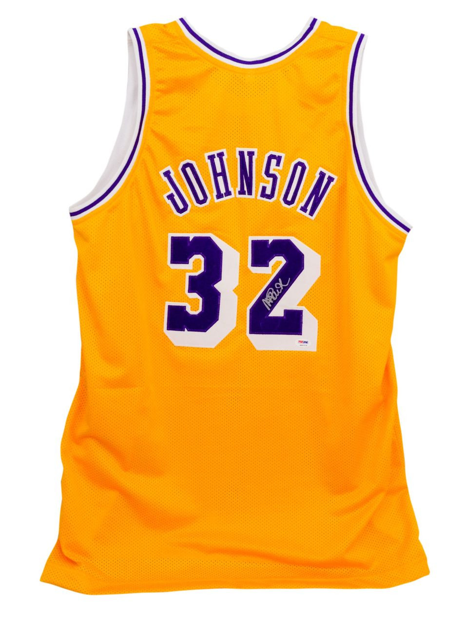 timeless design 7ca19 2ad54 Magic Johnson Signed Lakers Basketball Jersey