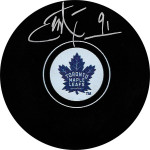 John Tavares Toronto Maple Leafs signed Puck