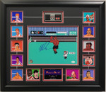 MIKE TYSON AUTOGRAPHED 11x14 Punchout with All Opponents  FRAMED