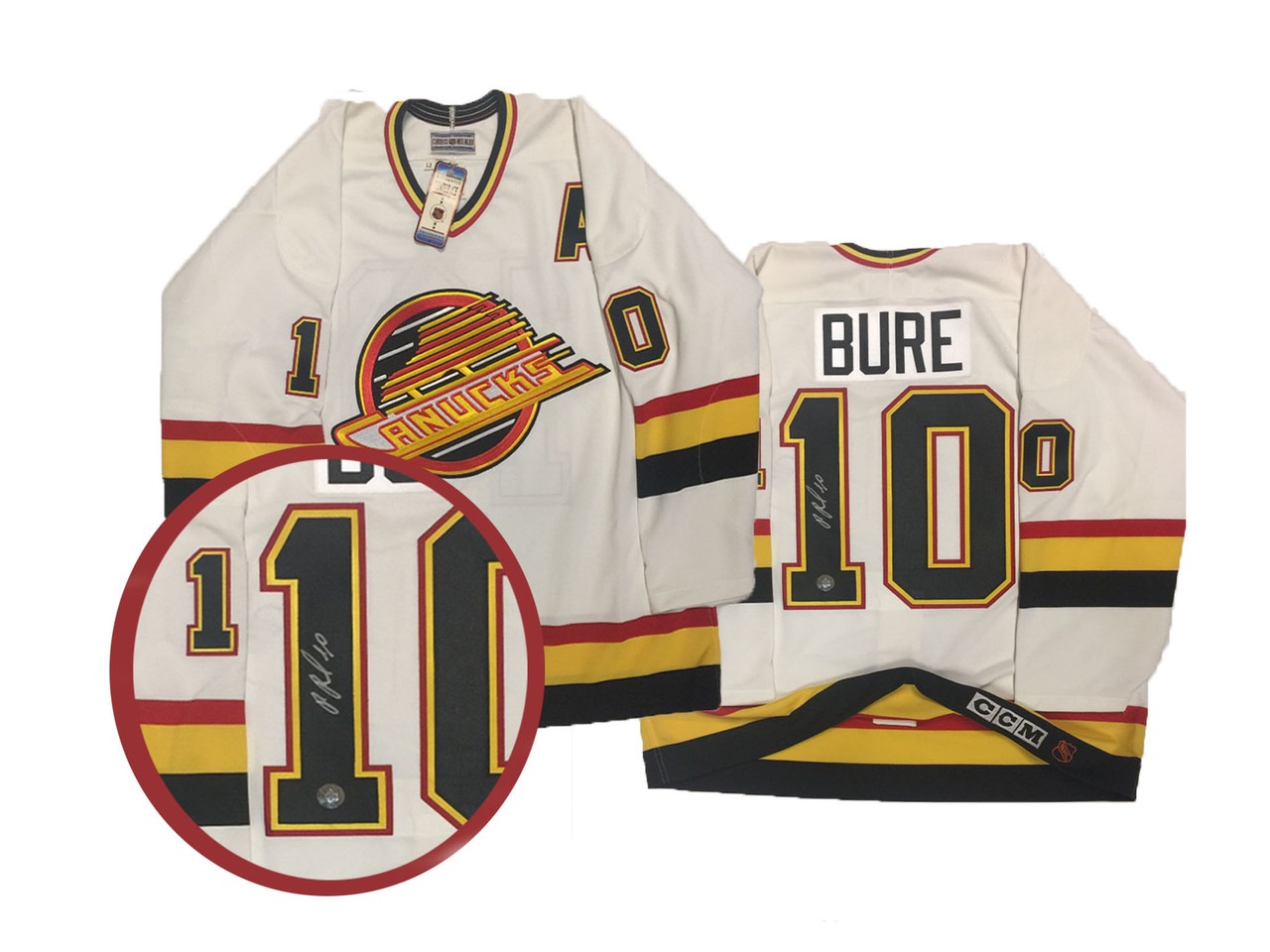 newest collection 382f6 6fa11 Pavel Bure Signed Vintage Vancouver Canucks Authentic Jersey