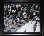 Kawhi Leonard Toronto Raptors 2019 NBA Eastern Conference  Game 7 Buzzer Beater 16x20 Frame (Textured))