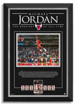 Michael Jordan Facsimile Signed/Autographed 1988 Slam Dunk - Chicago Bulls - Archival Etched Glass™ Museum Frame