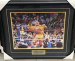 Hulk Hogan WWF T-Shirt Tear Signed 16x20 Framed