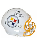 Chase Claypool Signed Pittsburgh Steelers Matte White Helmet