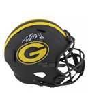 Davonte Adams Signed Eclipse Green Bay Packers Helmet