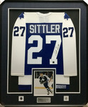 Darryl Sittler Vintage Signed Framed Maple Leafs Jersey